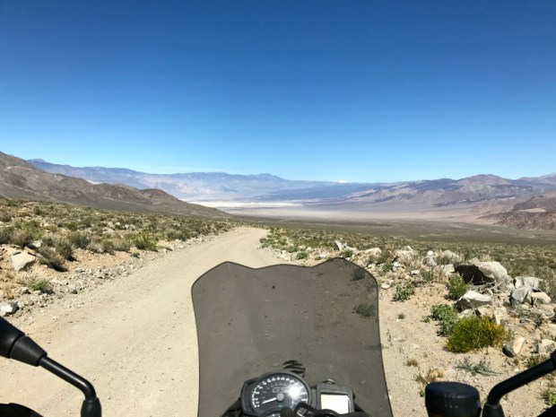 Dropping into Saline Valley from South Pass.