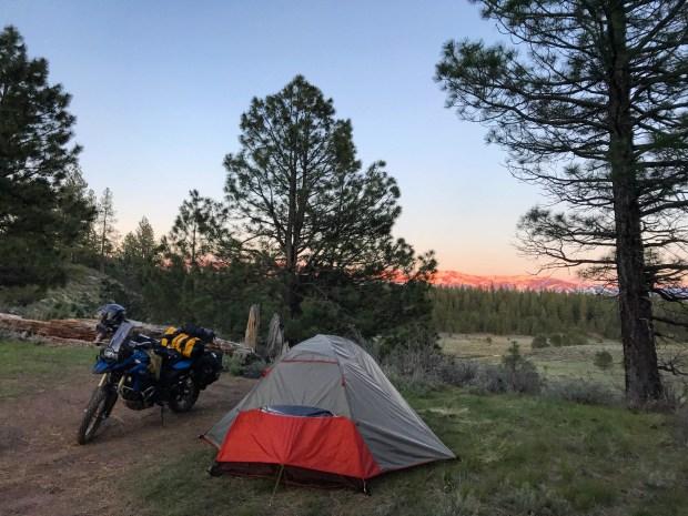 Camping near Boca Reservoir, CA