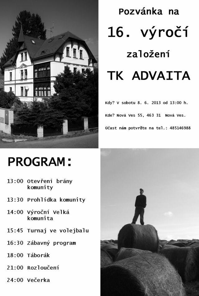 Pozvánka na výročí otevření TK v Nové Vsi