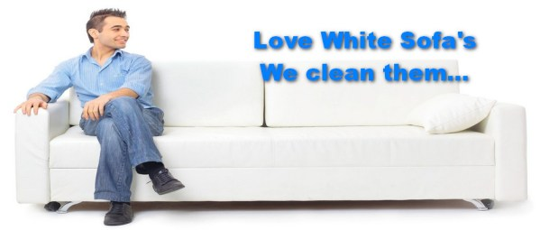 upholstery cleaning white sofa