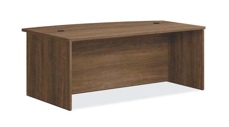 "HON Foundation Desk Shell | Bow Top | 72""W | Pinnacle Finish"