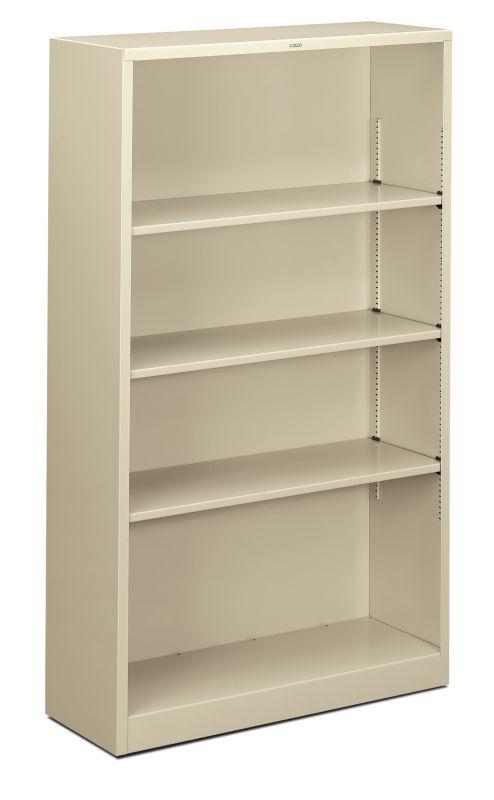 "HON Brigade Steel Bookcase | 4 Shelves | 34-1/2""W | Putty Finish"
