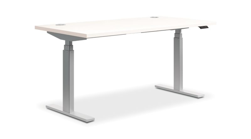 "HON Coordinate Height-Adjustable Desk | White Laminate | 60""W"