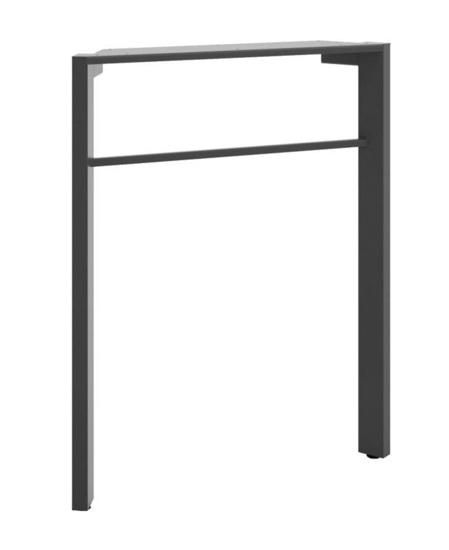 "HON Manage Desk Leg | 28-1/2""H | Ash Metallic Finish"