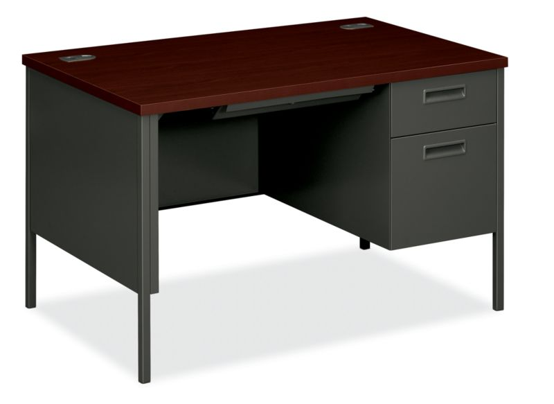 "HON Metro Classic Small Office Desk | 1 Box / 1 File Drawer | 48""W 