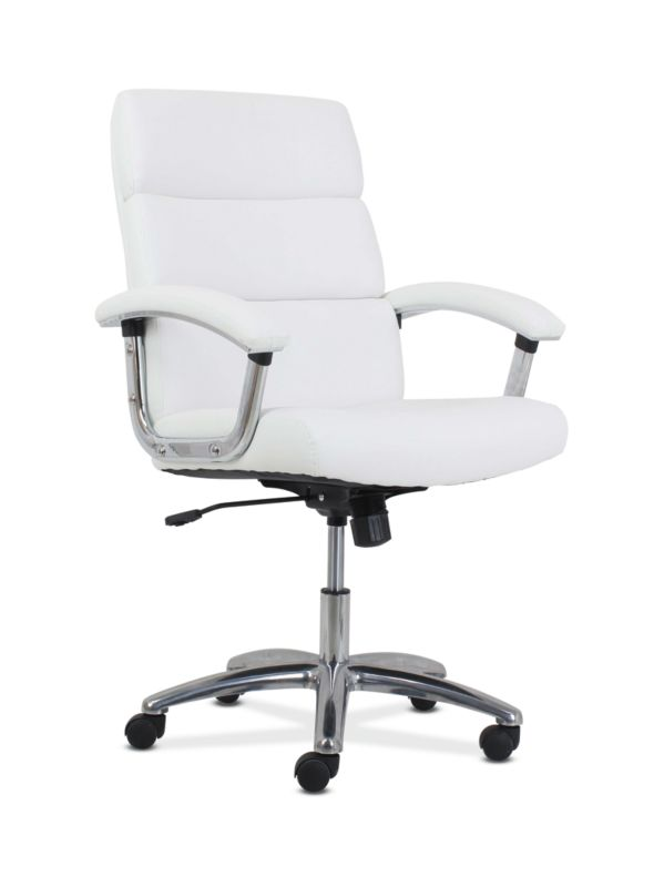HON Traction High-Back Modern Executive Chair | White Leather