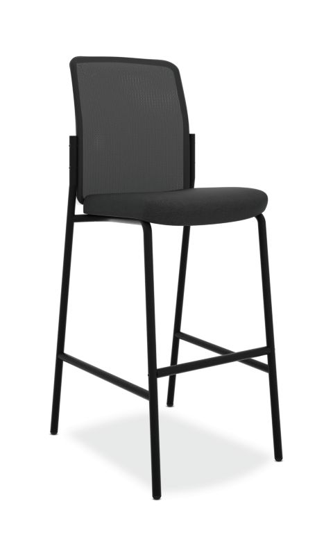 HON Instigate Cafe-Height Stool | Armless | Black