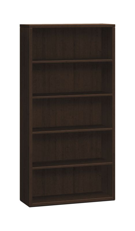 "HON 10500 Series Bookcase | 5 Shelves | 36""W | Mocha Finish"