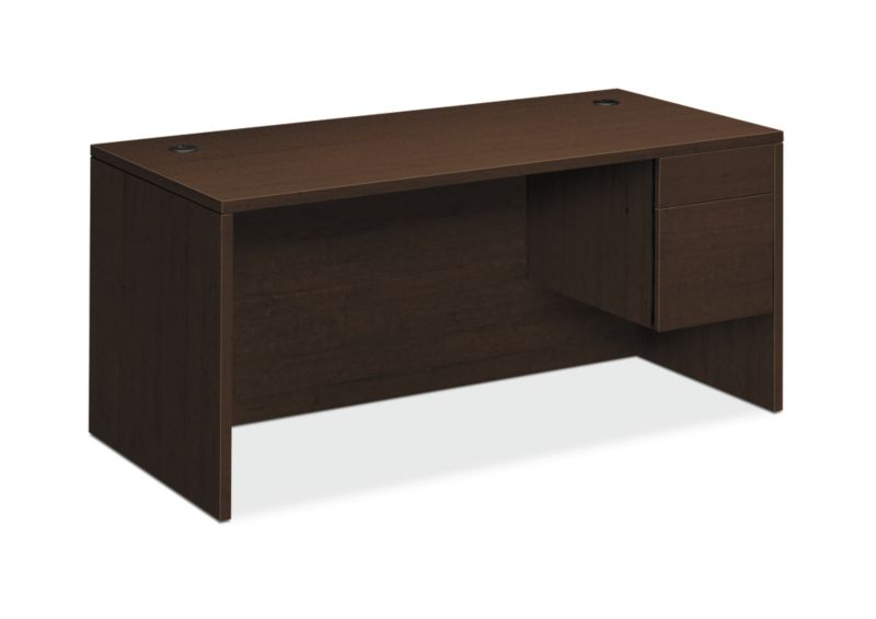 "HON 10500 Series Right Pedestal Desk | 1 Box / 1 File Drawer | 66""W 