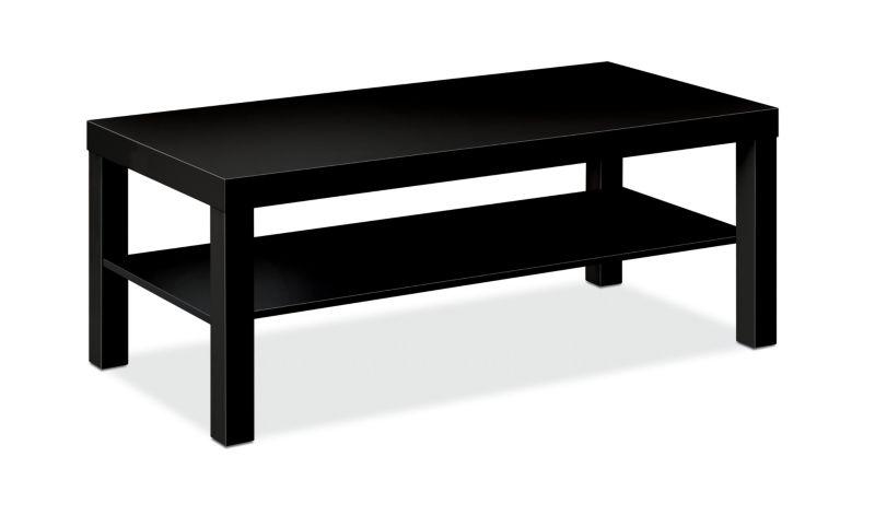 "HON BL Series Coffee Table   Flat Edge   42""W x 20""D   Black Finish"