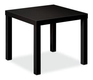 HON BL Series Corner Table | Flat Edge | 24″W x 24″D | Black Finish