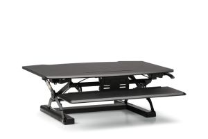 HON Desktop Riser with Keyboard Tray | Black