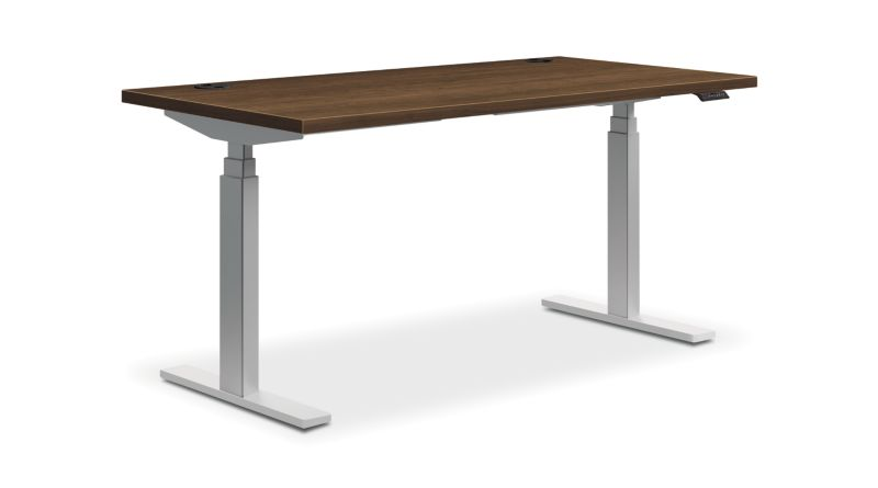 "HON Coordinate Height-Adjustable Table   Pinnacle Laminate   60""W"