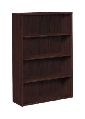 HON 10500 Series Bookcase   4 Shelves   36″W   Mahogany Finish