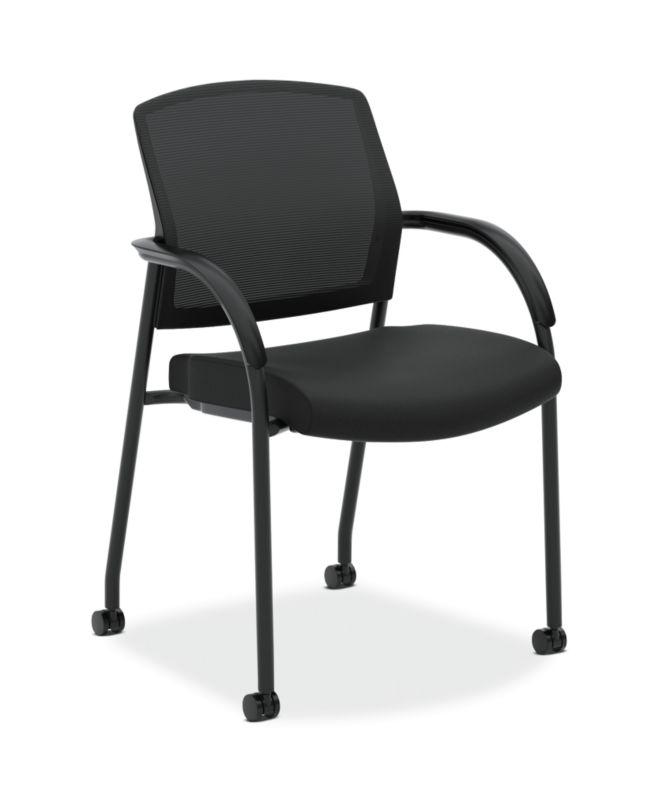 HON Lota Multi-Purpose Side Chair   Fixed Loop Arms   Black