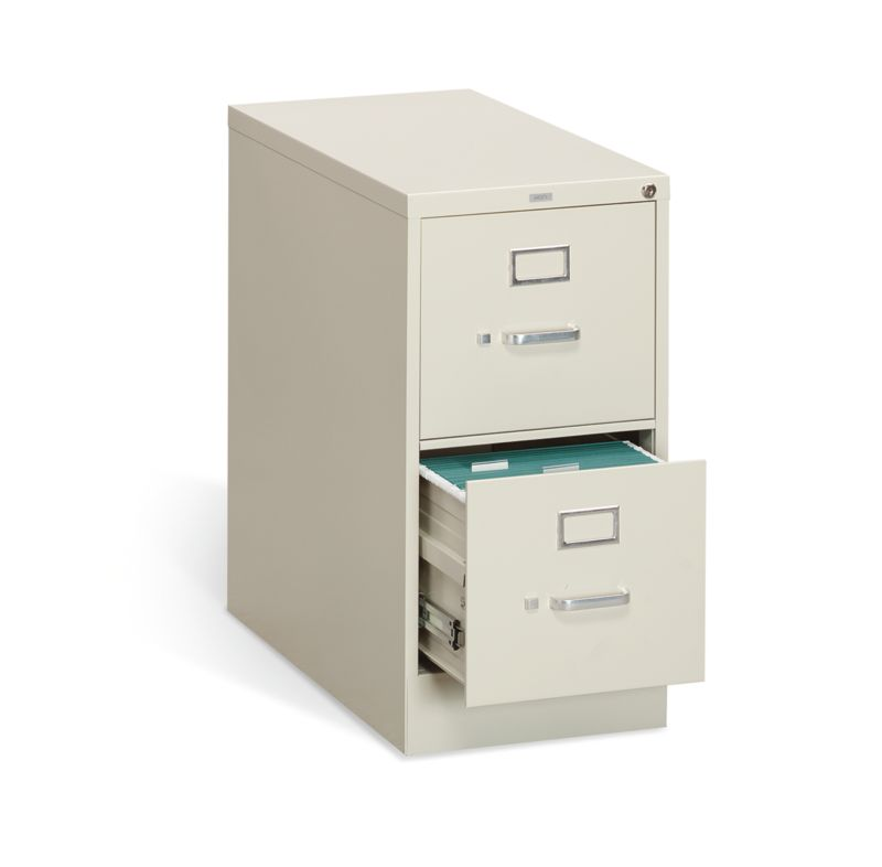 """HON 310 Series Vertical File   2 Drawers   Letter Width   15""""W x 26-1/2""""D   Putty Finish"""