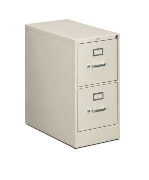 HON 310 Series Vertical File | 2 Drawers | Letter Width | 15″W x 26-1/2″D | Light Gray Finish