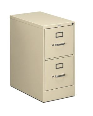 HON 510 Series Vertical File | 2 Drawers | Letter Width | 15″W x 25″D | Putty Finish