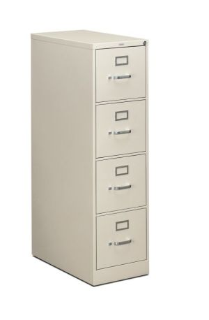 HON 310 Series Vertical File | 4 Drawers | Letter Width | 15″W x 26-1/2″D x 52″H | Light Gray Finish