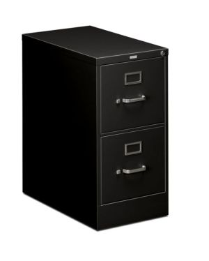 HON 510 Series Vertical File | 2 Drawers | Letter Width | 15″W x 25″D x 29″H | Black Finish