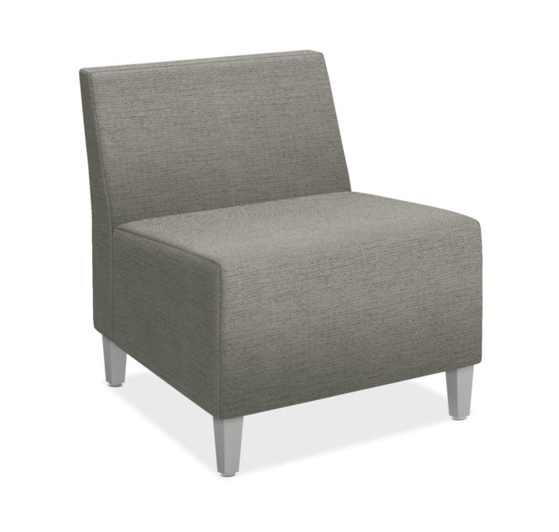 HON Flock Modular Chair | Textured Satin Chrome Legs | Tapered Square Legs | Dane Fabric