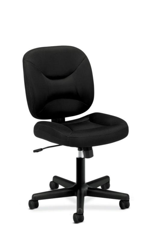 HON ValuTask Low-Back Task Chair   Center-Tilt, Tension, Lock   Black Sandwich Mesh