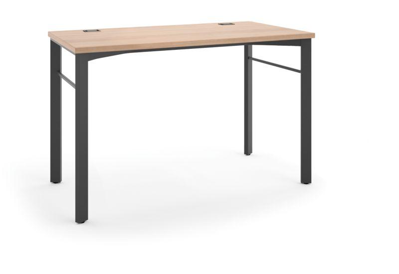 "HON Manage Table Desk | 48""W x 23-1/2""D | Wheat Laminate | Ash Finish"