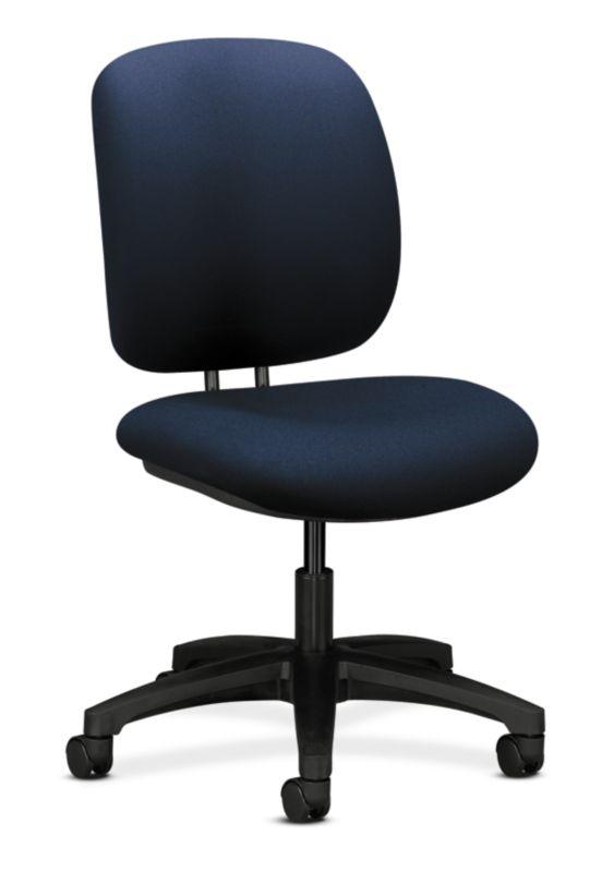 HON ComforTask Chair | Adjustable Seat Depth | Navy Fabric