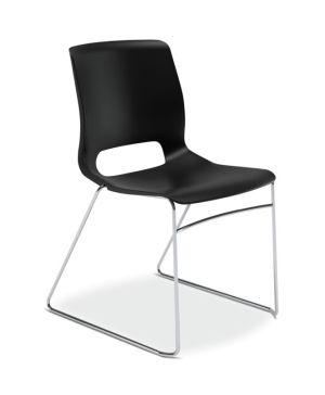 HON Motivate High-Density Stacking Chair   Onyx Shell   4 per Carton