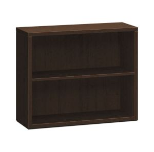 HON 10500 Series Bookcase | 2 Shelves | 36″W x 13-1/8″D x 29-5/8″H | Mocha Finish
