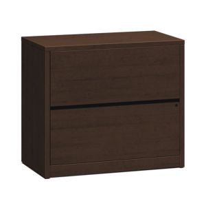 HON 10500 Series Lateral File | 2 Drawers | 36″W x 20″D x 29-1/2″H | Mocha Finish