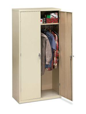 HON Brigade Storage Cabinet | 5 Adjustable Shelves | 36″W x 18-1/8″D x 72″H | Putty Finish
