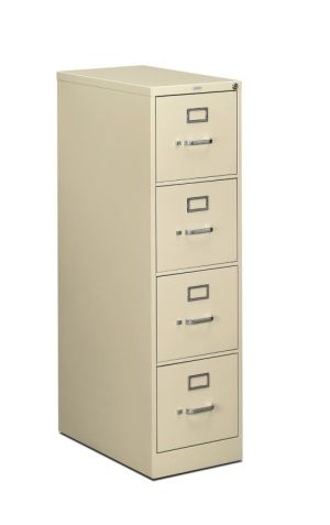 HON 510 Series Vertical File | 4 Drawers | Letter Width | 15″W x 25″D x 52″H | Putty Finish