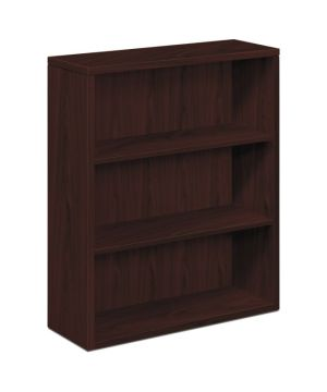 HON 10500 Series Bookcase | 3 Shelves | 36″W x 13-1/8″D x 43-3/8″H | Mahogany Finish