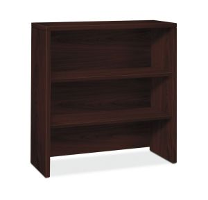 HON 10500 Series Bookcase Hutch | 2 Shelves | 36″W x 14-5/8″D x 37-1/8″H | Mahogany Finish