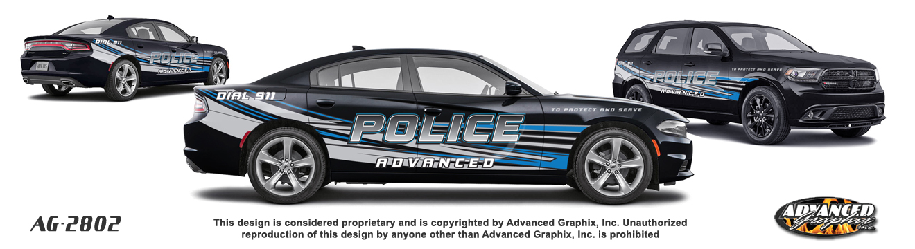 Police Car Graphics Templates