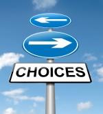 Choices concept.