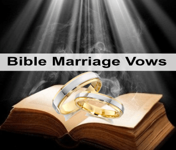 Where are marriage vows found in the bible?