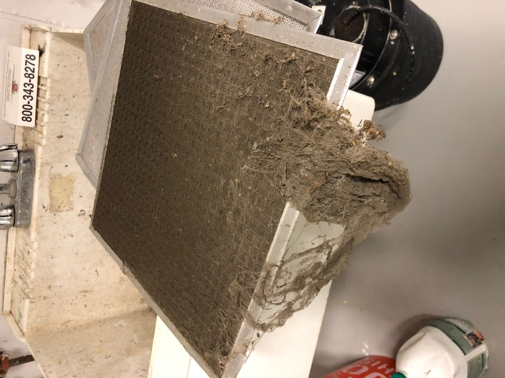 dreadfully dirty air filter