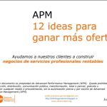 12 ideas para ganar más ofertas, prouestas y contratos Advanced Performance Management