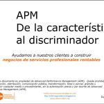 De la caracterísitica al discriminador Advanced Performance Management