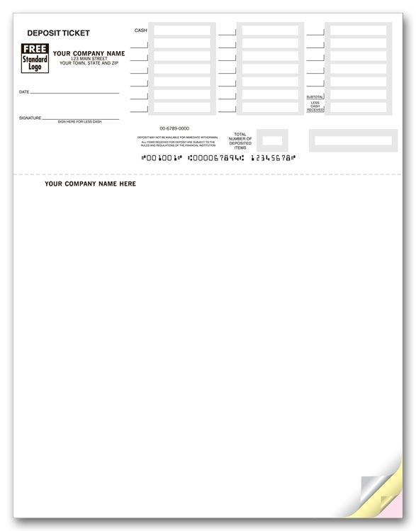 Printable Deposit Slips Quickbooks