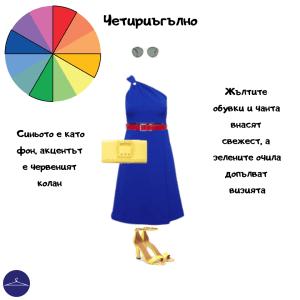Четириъгълно използване на цветовете в облеклото
