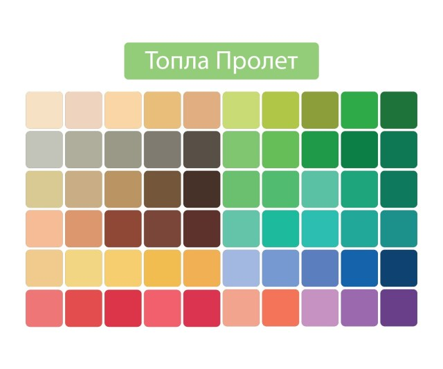Палитра Топла пролет цветови анализ