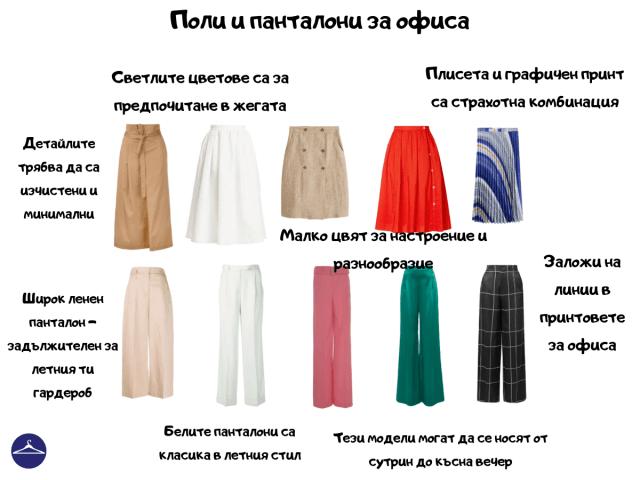 Панталони и поли за офиса