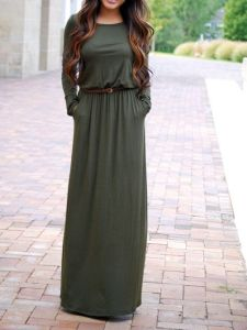 колан върху рокля