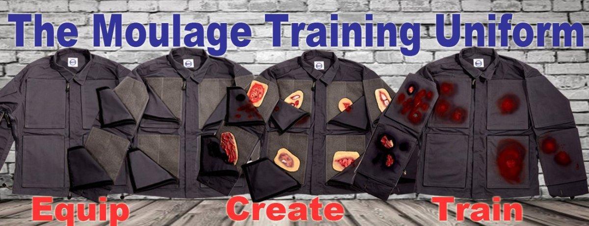 the moulage training uniform shown