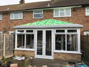 Solid conservatory roof in progress