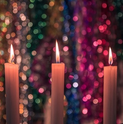 New Year's Eve Candle Display