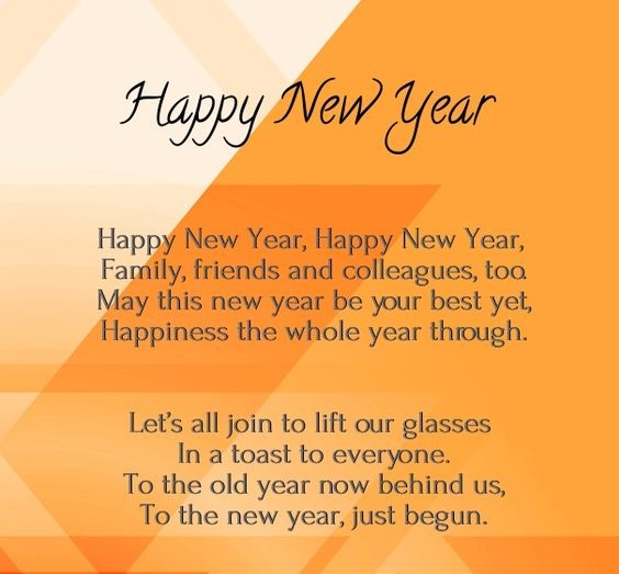 Happy New Year Poems For Friends